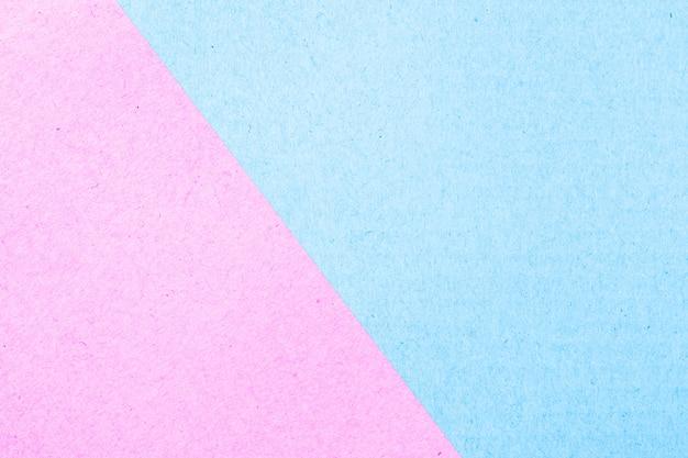 Texture abstraite de boîte de papier de surface de couleur pastel, rose et bleu