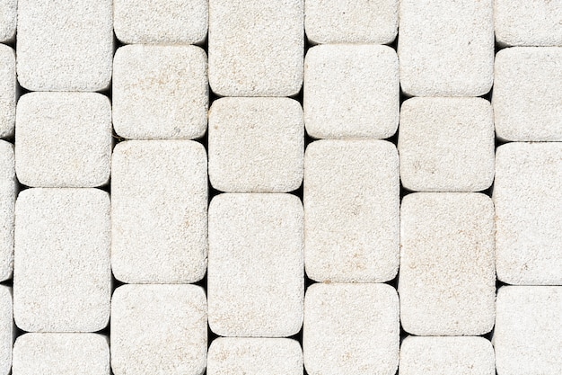 Texture abstraite de briques blanches