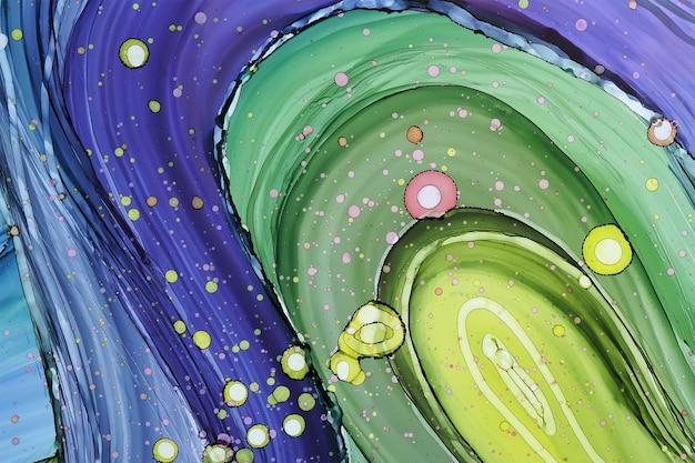 Texture abstraite d'encre d'alcool, partie de la peinture originale