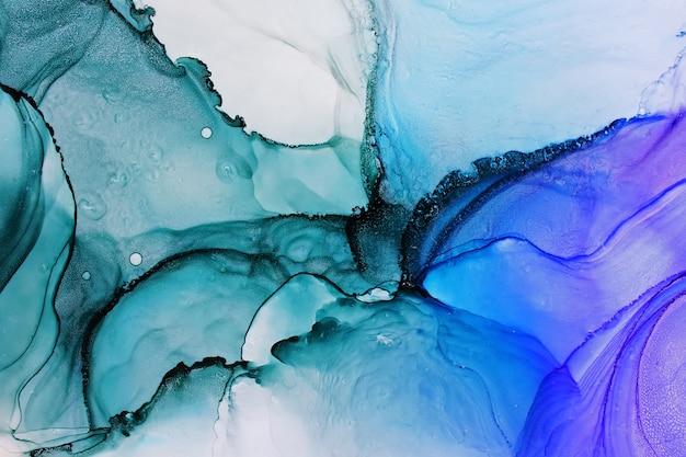 Texture abstraite d'encre alcool