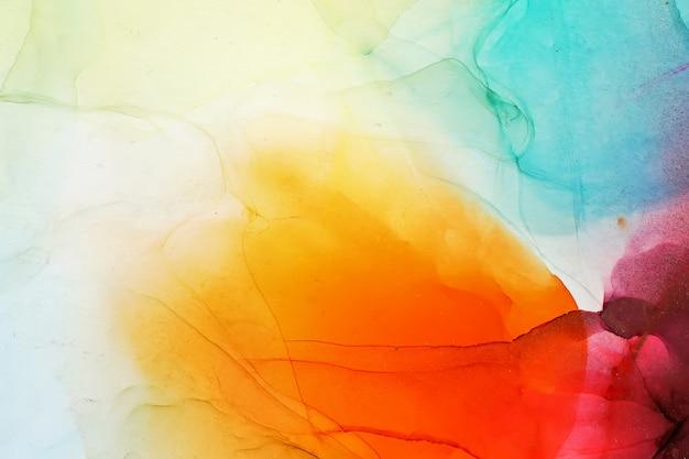 Texture Abstraite D'encre Alcool Photo Premium
