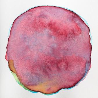 Texture abstraite de forme arrondie sur toile
