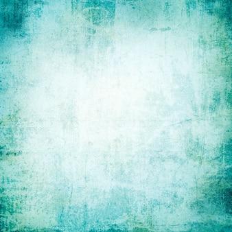 Texture abstraite grunge, vieux papier peint vintage, matériel de beaux-arts bleu, toile vintage