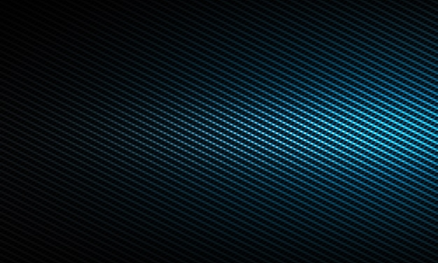 Texture abstraite moderne en fibre de carbone bleu avec lumière latérale gauche