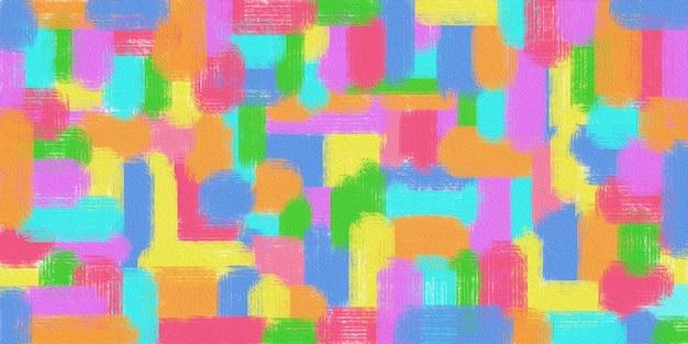 Texture abstraite de la peinture géométrique à l'huile sur toile