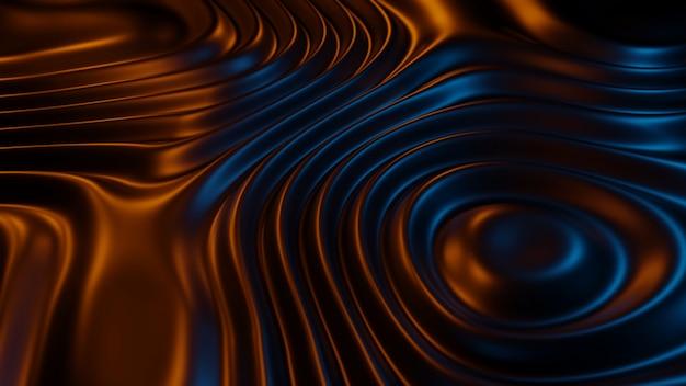 Texture abstraite de rendu 3d sur fond clair bleu oraeng. illustration 3d.