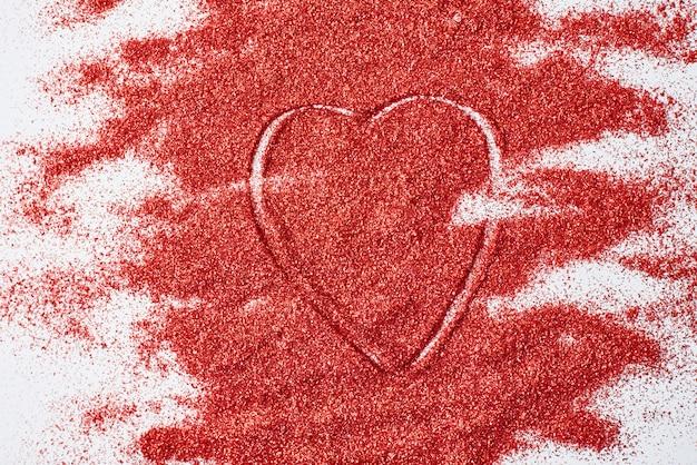 Texture abstraite. la texture de paillettes rouges