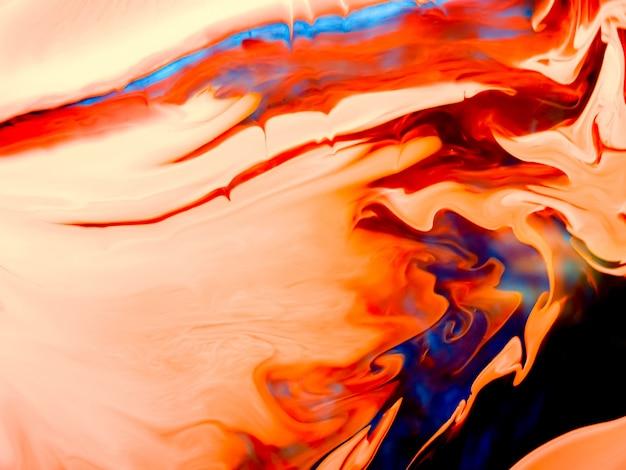 Texture acrylique lisse avec courbes orange et design unique