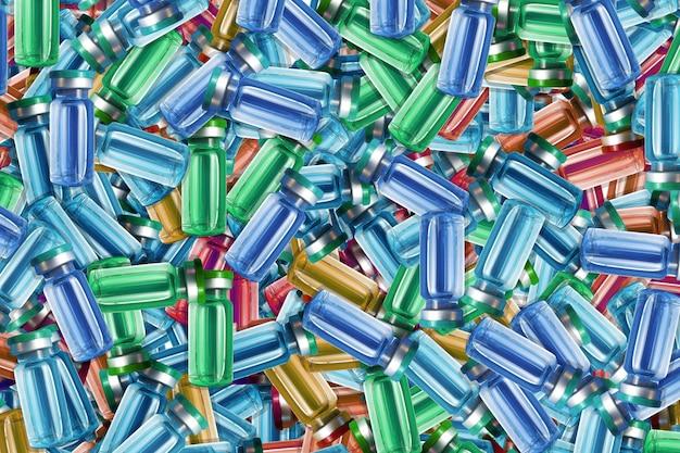 Texture des ampoules multicolores avec des médicaments