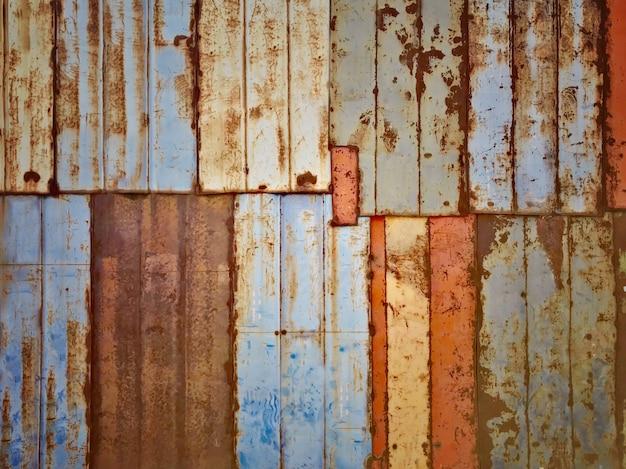 Texture ancienne plaque de métal rouillé wall.background
