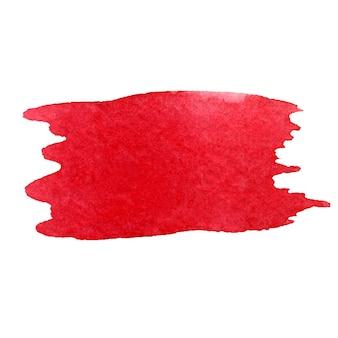 Texture aquarelle dessinée à la main de coup de pinceau aquarelle rouge