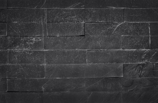 Texture ardoise noire gris foncé avec haute résolution, surface du mur de briques en pierre pour le fond