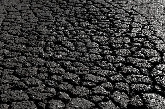 Texture ou arrière-plan alphalt fissuré noir