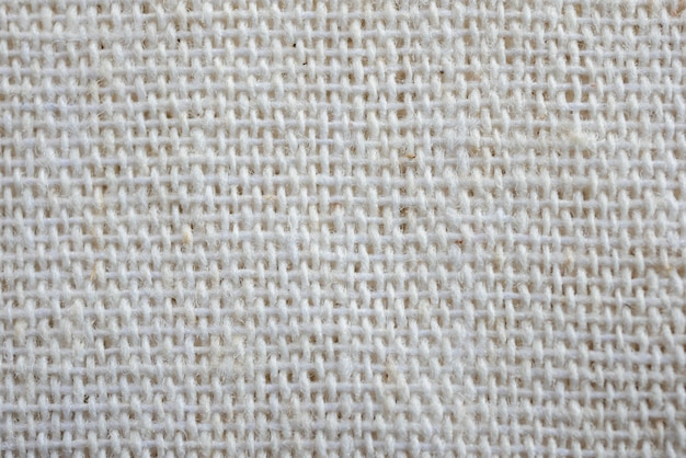 Texture d'arrière-plan blanc calicot tissu tissu