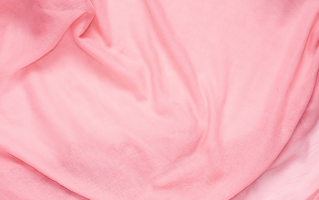 Texture d'arrière-plan de couleur rose en tissu délicat