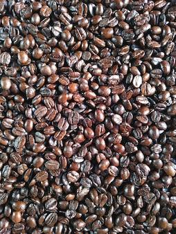 Texture d'arrière-plan de grains de café