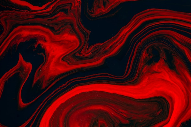 Texture D'art Fluide. Abstrait Avec Effet De Peinture Tourbillonnant. Tableau Acrylique Liquide Qui Coule Et éclabousse. Photo Premium