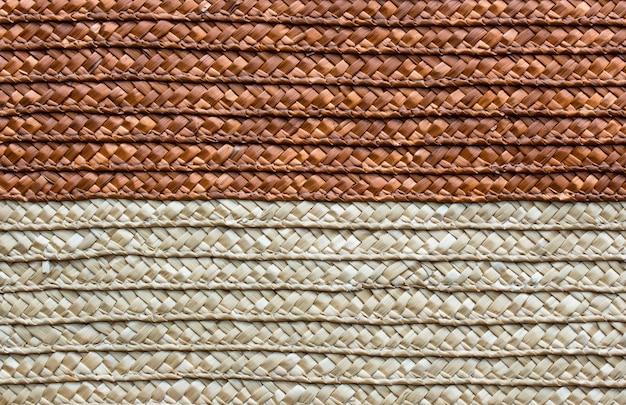 Texture artisanale en rotin tissé