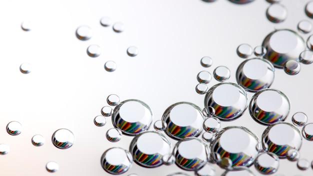 Texture bao, hémisphères argentés, nano structures