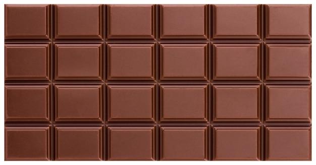 Texture de la barre de chocolat au lait.
