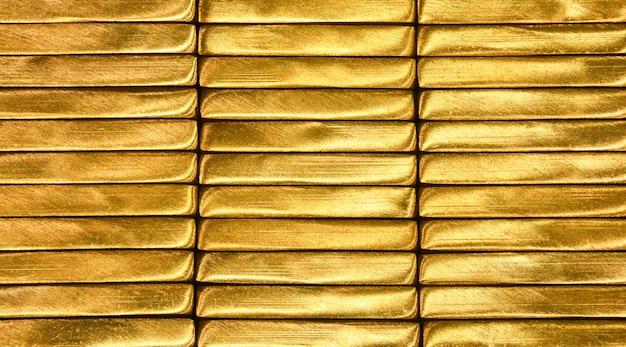 Texture de barre en laiton doré brillant