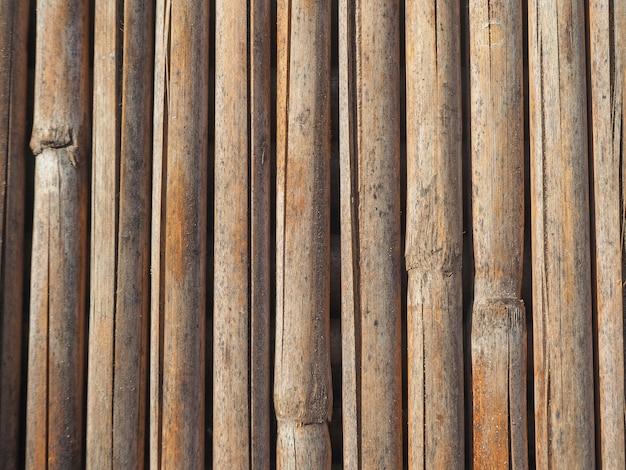 Texture des bâtons de bambou séchés