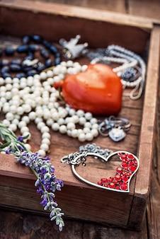 Texture de bijoux. bijoux vintage