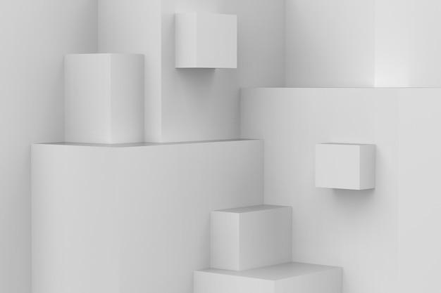 Texture de bloc de cubes géométriques abstraites