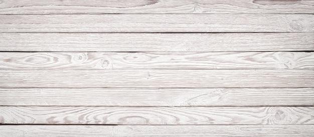 Texture de bois blanc pour la mise en page, table en bois panorama pour le fond