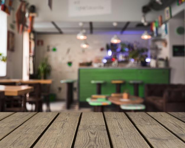 Texture en bois donnant sur la barre vide
