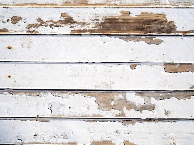 Texture en bois peint en blanc