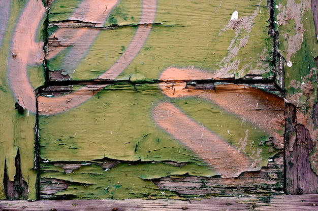 Texture en bois avec peinture pelée