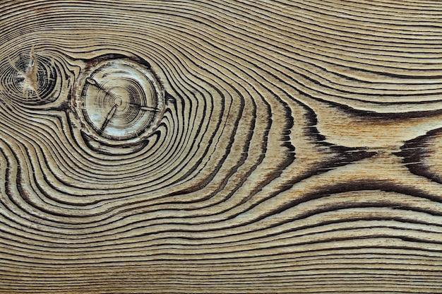 Texture bois vintage avec noeuds vue de dessus en gros plan pour le fond