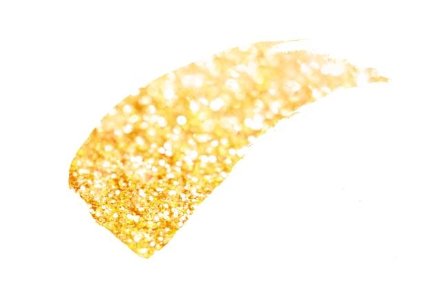 Texture de bokeh doré. paillettes festives avec lumières défocalisées