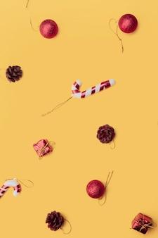 Texture de bonne année, noël avec des jouets et des cadeaux