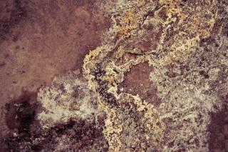 Texture boue géothermique, le sol