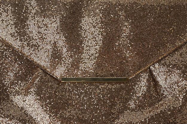 Texture brillante en cuir doré,
