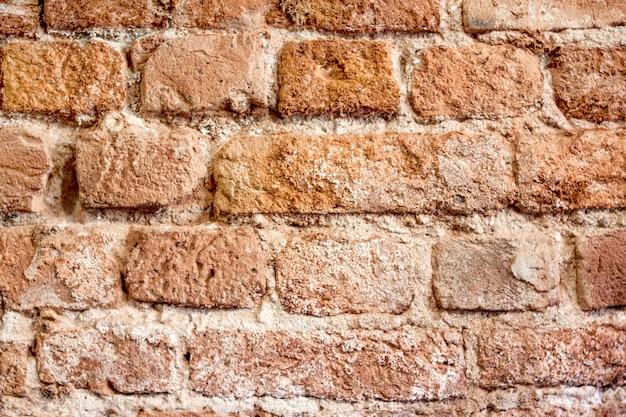 Texture de brique de fond, maçonnerie, orange et marron