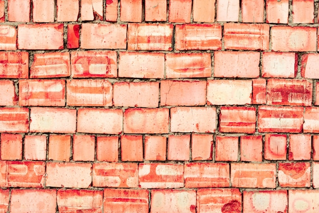 Texture de brique avec fond rayures et fissures