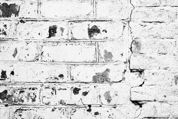 Texture De Brique Avec Rayures Et Fissures Photo Premium