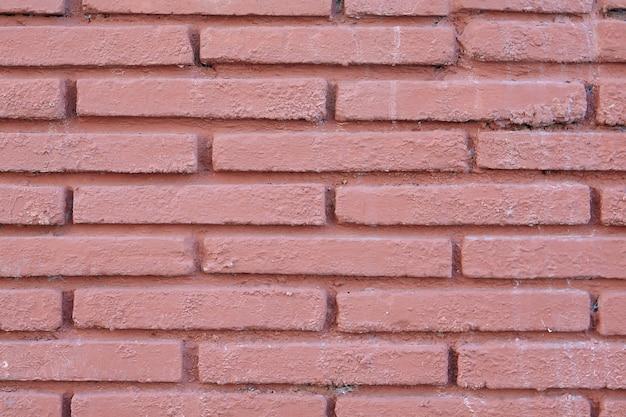 Texture de brique rouge-brun du mur peint