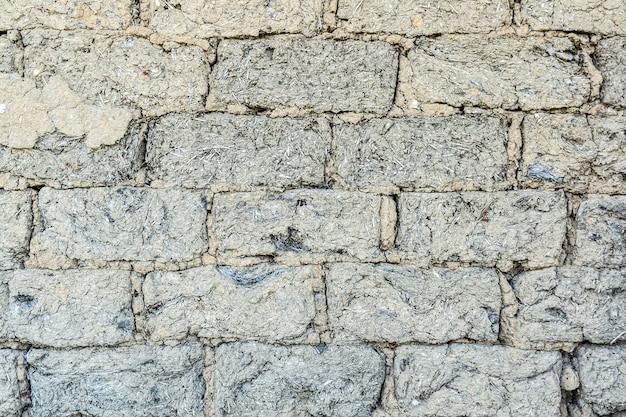 Texture de briques d'argile-paille