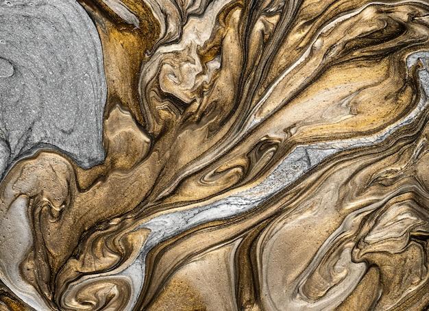 Texture bronze liquide