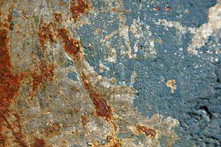 Texture brute du mur, tache