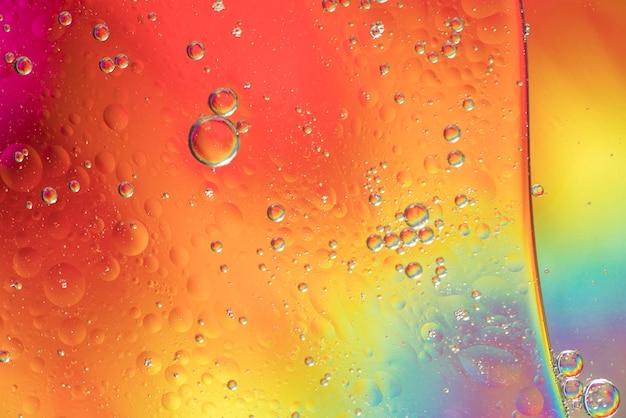 Texture de bulles abstraites différentes arc-en-ciel