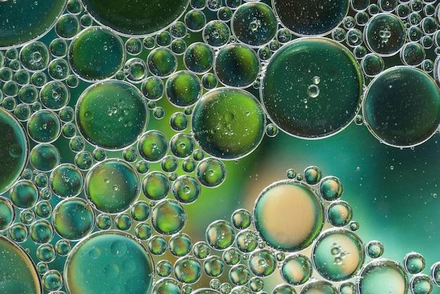 Texture de bulles abstraites différentes vert foncé