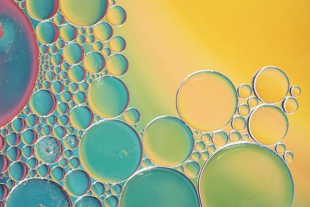 Texture de bulles multicolores abstraite