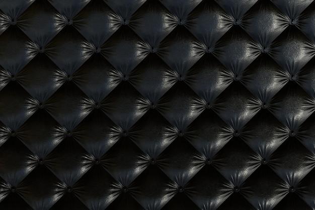 Texture de canapé de couleur noire.