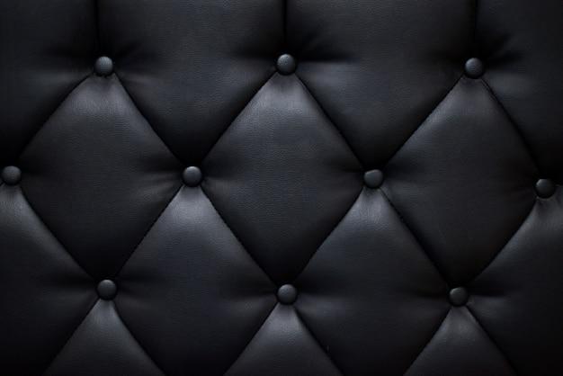 Texture de canapé de couleur noire