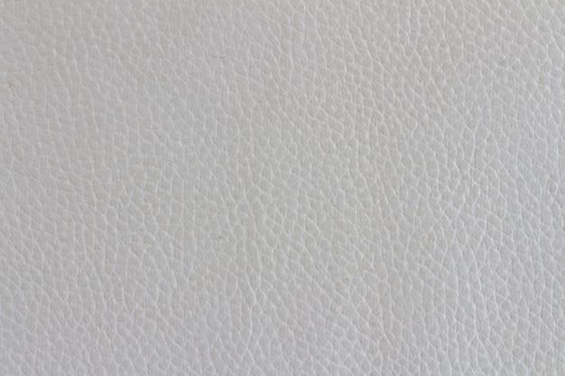 Texture de canapé en cuir blanc